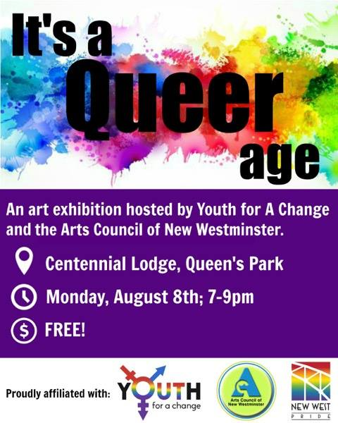 ACNW - Pride Arts Celebration - It's a Queer Age - August 2016