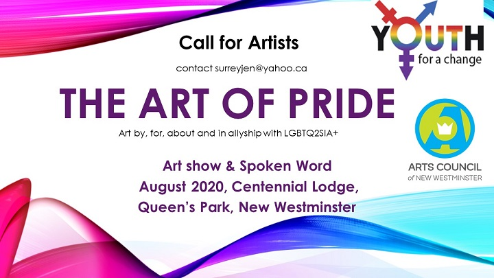 Call for Artists - The Art of Pride - Art for, by, about and in allyship with LGBTQ2SIA+